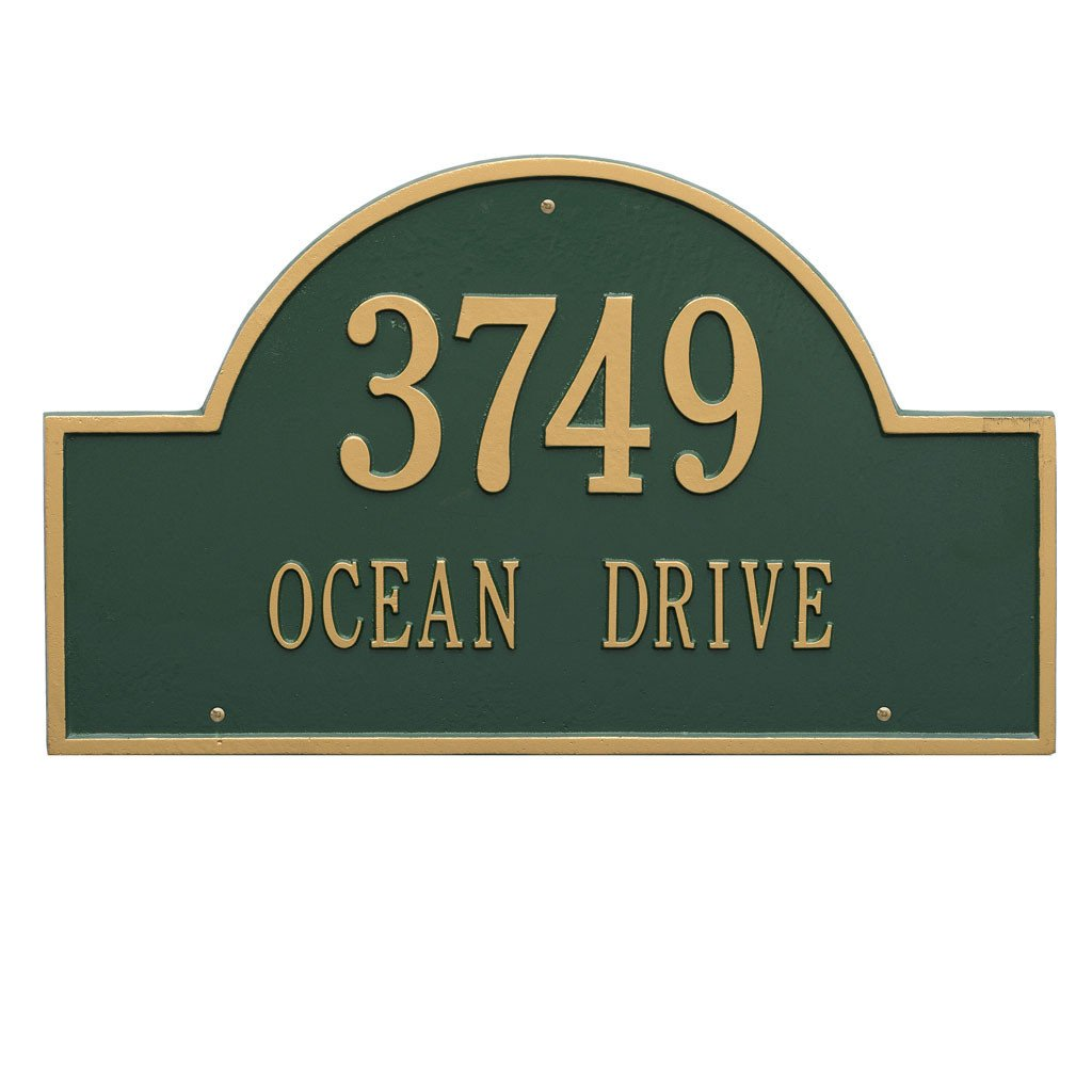 Arch Marker Estate Wall Address Plaque Two Line Wall Address Plaque - The Personalized Doormats Company