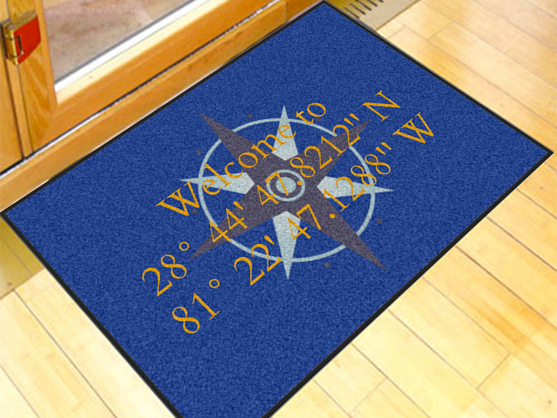 Modern Compass Rose Write Your Own 2' x 3' Doormat