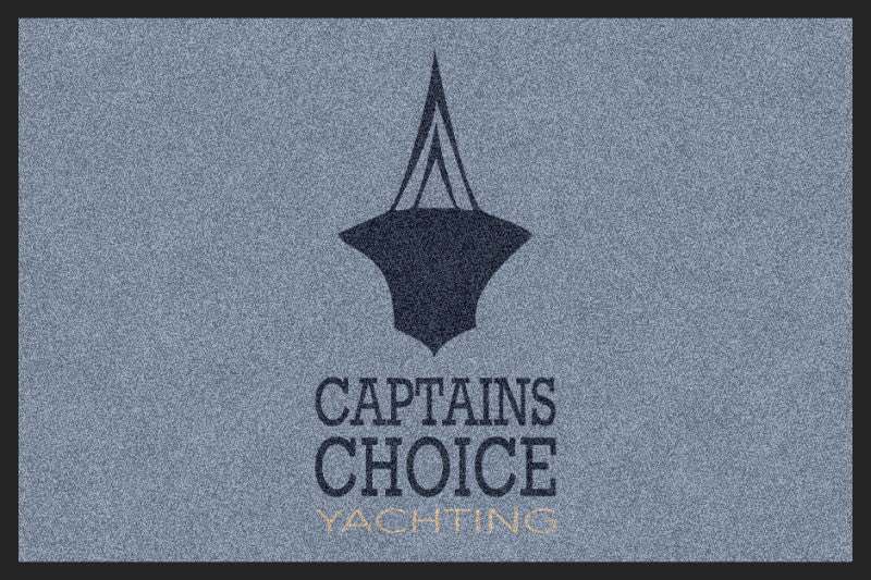 Captains Choice Mat 2 x 3 Rubber Backed Carpeted HD - The Personalized Doormats Company