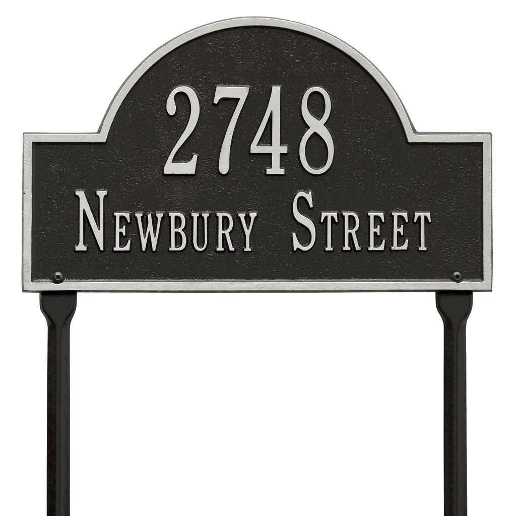 Arch Marker Standard Lawn Address Plaque Two Line Lawn Address Plaque - The Personalized Doormats Company