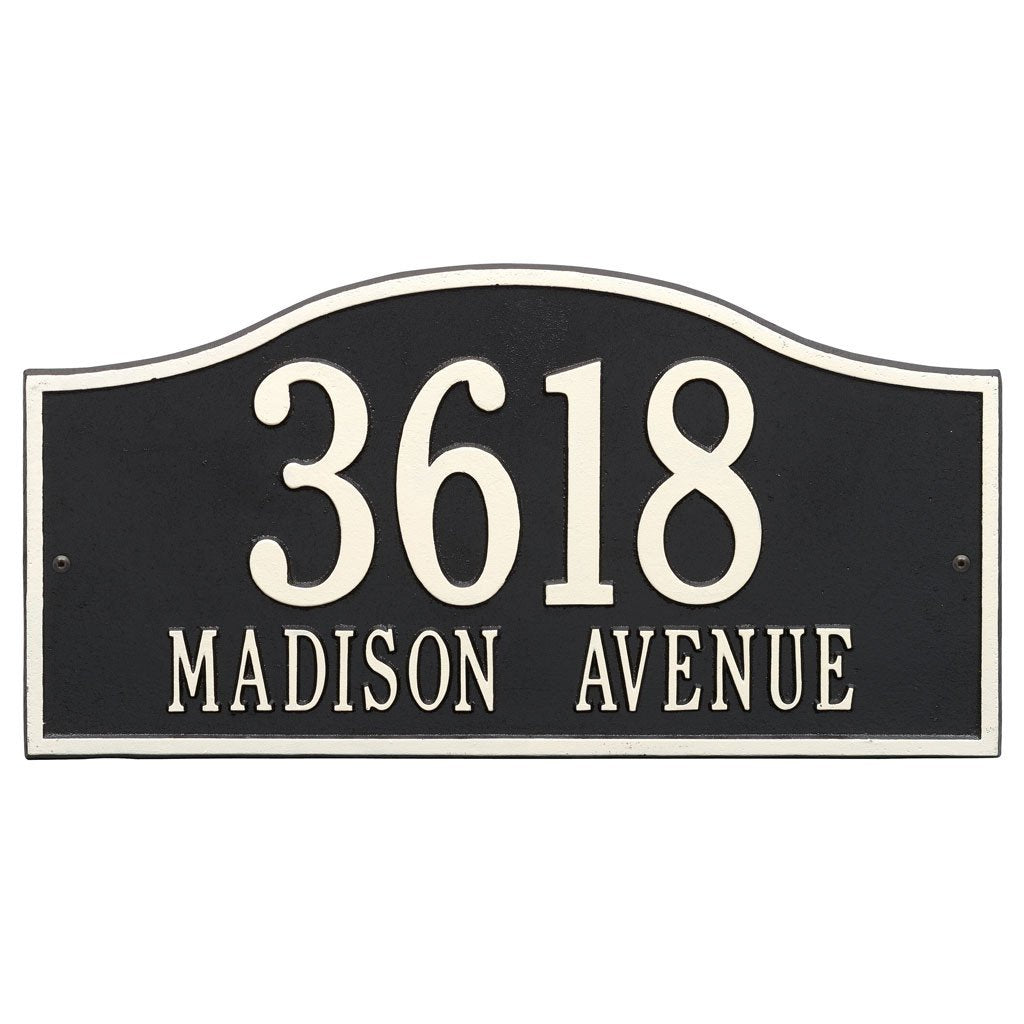 Rolling Hills Grand Wall Address Plaque Two Line