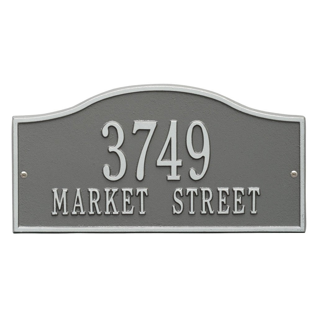 Rolling Hills Standard Wall Address Plaque Two Line