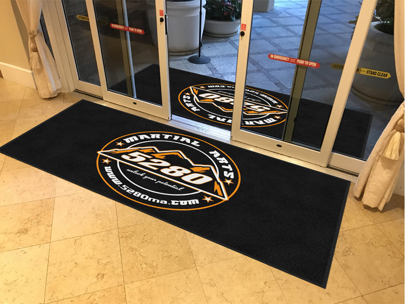 5280 Martial Arts 4 X 8 Rubber Backed Carpeted HD - The Personalized Doormats Company