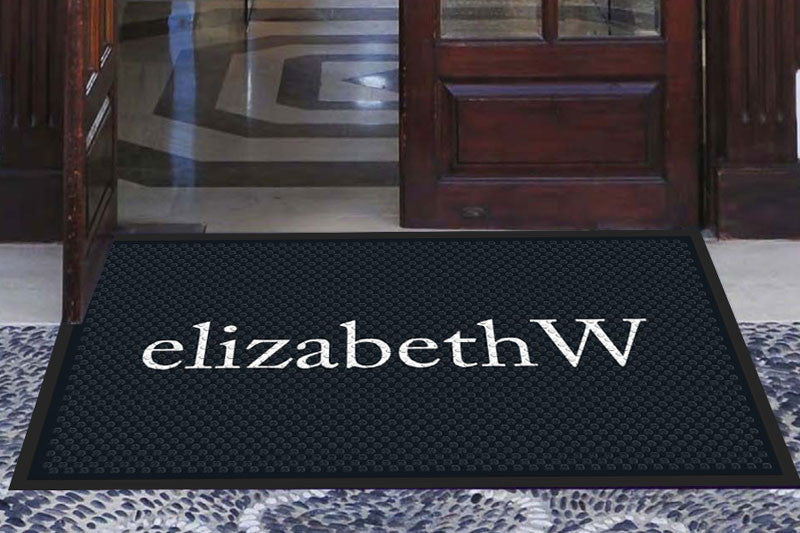 elizabethw 3 X 5 Rubber Scraper - The Personalized Doormats Company