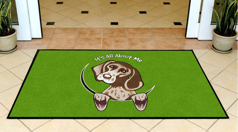 All About Me 3 X 5 Rubber Backed Carpeted HD - The Personalized Doormats Company