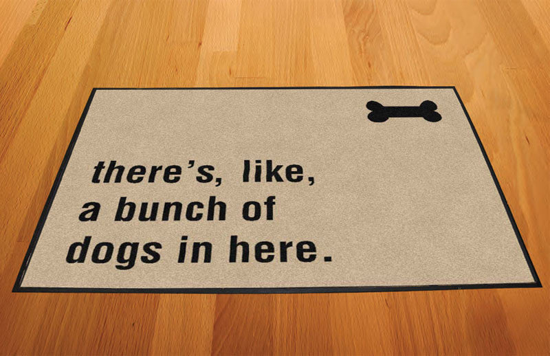 Dog doormat 2 X 3 Rubber Backed Carpeted HD - The Personalized Doormats Company