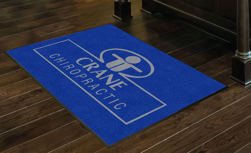 Crane Chiropractic 3 x 4 Rubber Backed Carpeted HD - The Personalized Doormats Company