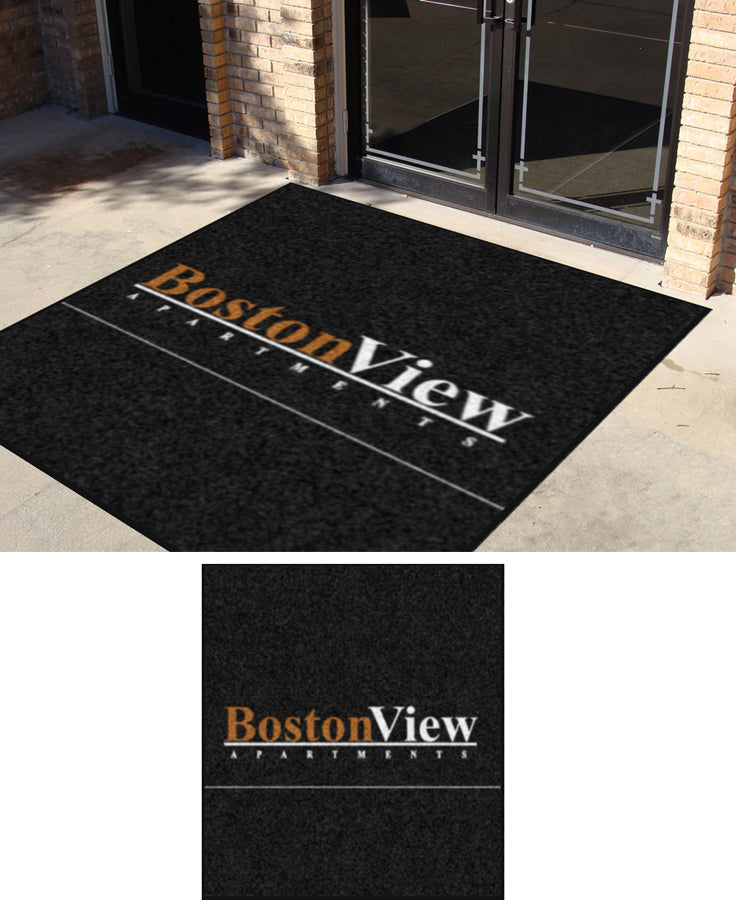 BV Lobby TV 8 X 9 Rubber Backed Carpeted (XL 65mil) - The Personalized Doormats Company
