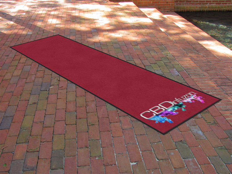 Cbd Infuzon 3 X 10 Rubber Backed Carpeted HD - The Personalized Doormats Company