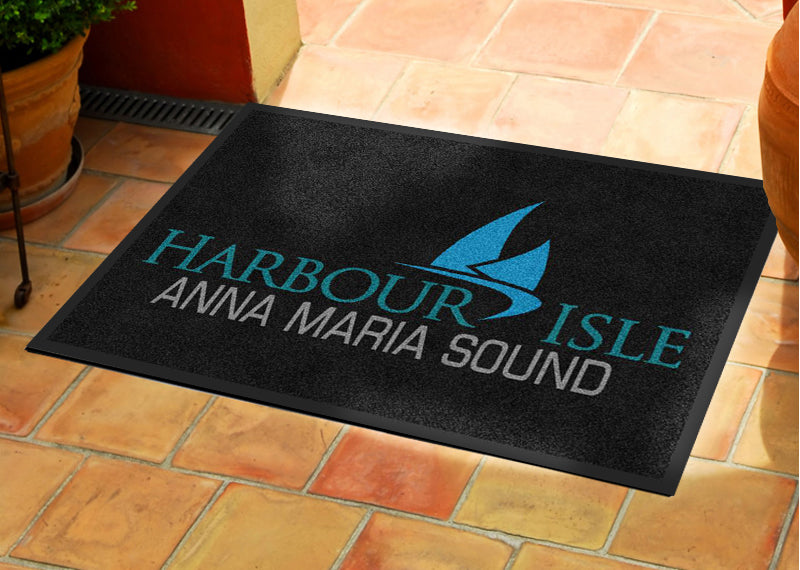 Harbour Isle 2 X 3 Rubber Backed Carpeted - The Personalized Doormats Company