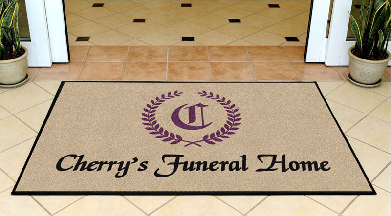 Cherry's Funeral Home 3 X 5 Rubber Backed Carpeted HD - The Personalized Doormats Company