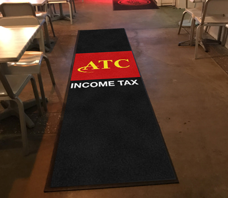 ATC Black Carpet 2018 3 x 10 Rubber Backed Carpeted - The Personalized Doormats Company