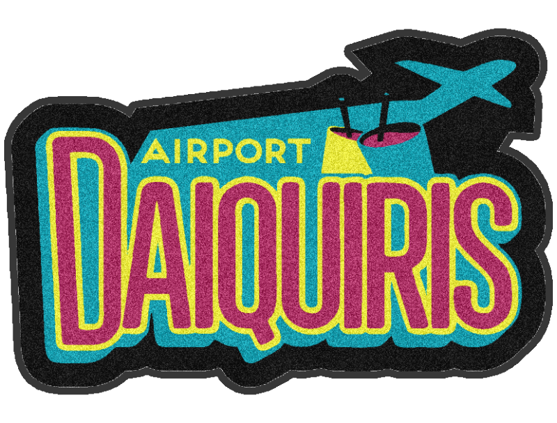 airport daiquiris 3 X 4 Rubber Backed Carpeted HD Custom Shape - The Personalized Doormats Company