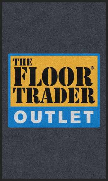 Floor Trader Mat 3 x 5 Rubber Backed Carpeted HD - The Personalized Doormats Company