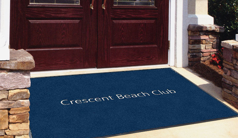 Crescent Beach Club 4 x 6 Flocked Olefin 1 Color - The Personalized Doormats Company