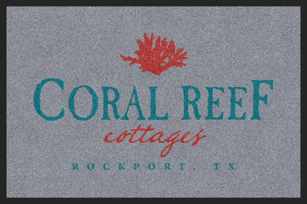 Coral Reef Test 2 2 X 3 Rubber Backed Carpeted HD - The Personalized Doormats Company