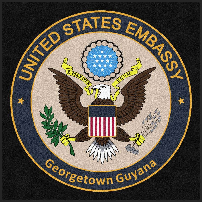 Department of State - Georgetown 6 X 6 Rubber Backed Carpeted HD - The Personalized Doormats Company