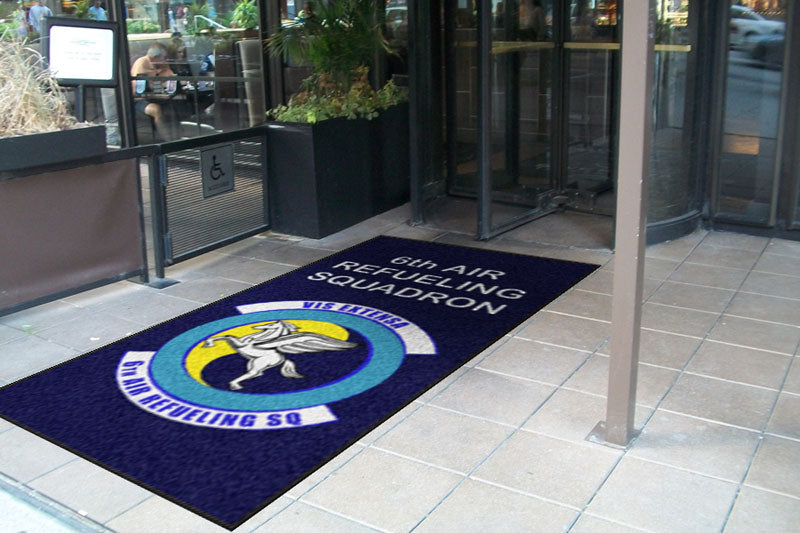 6th Air Refueling Squadron 4 X 8 Rubber Backed Carpeted - The Personalized Doormats Company
