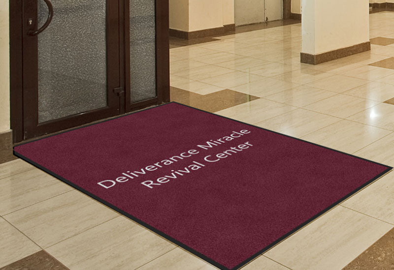 Deliverance Miracle Revival Center 4 X 6 Rubber Backed Carpeted HD - The Personalized Doormats Company