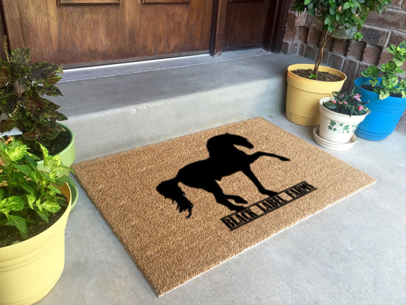 Black Label Farms 2 X 3 Flocked Classic Coir (PDC) - The Personalized Doormats Company