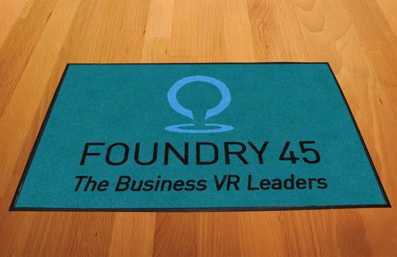Foundry 45 2 X 3 Rubber Backed Carpeted HD - The Personalized Doormats Company