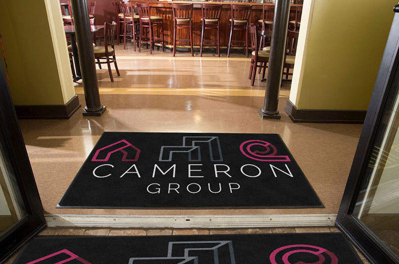 Cameron Logo 4 X 6 Rubber Backed Carpeted HD - The Personalized Doormats Company