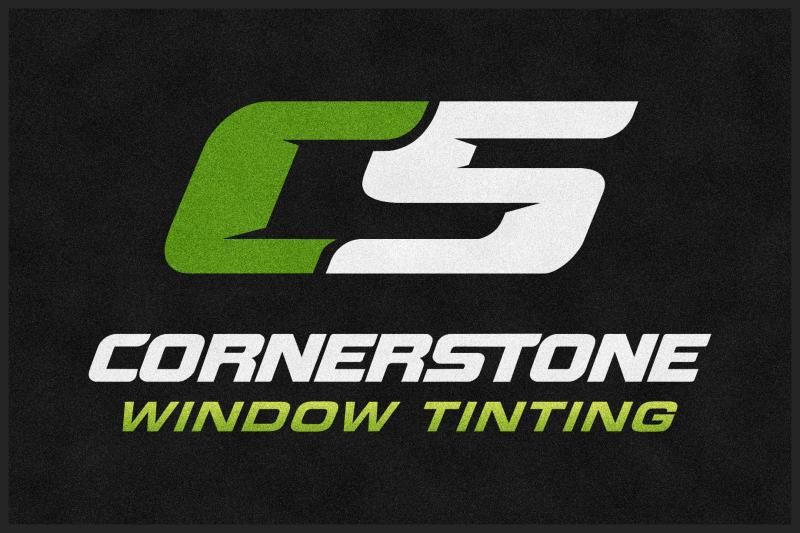 Cornerstone Window Tinting 4 X 6 Rubber Backed Carpeted HD - The Personalized Doormats Company