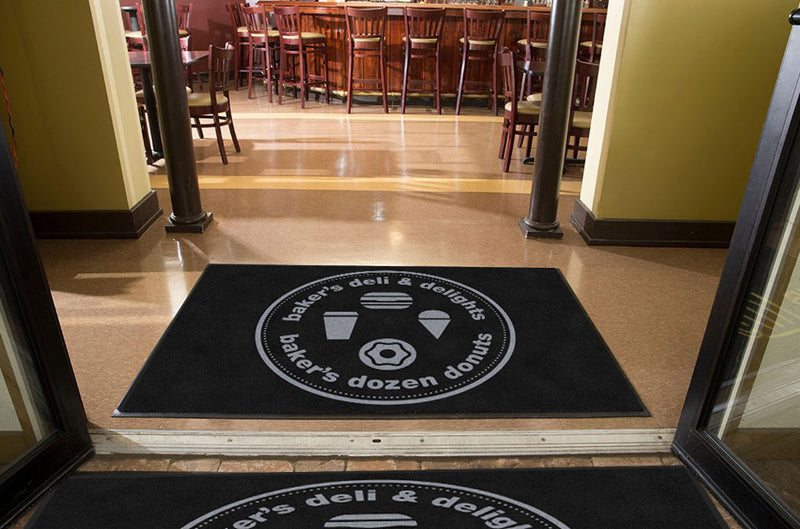 Baker's Dozen Donuts Deli & Delights 4 X 6 Rubber Backed Carpeted HD - The Personalized Doormats Company