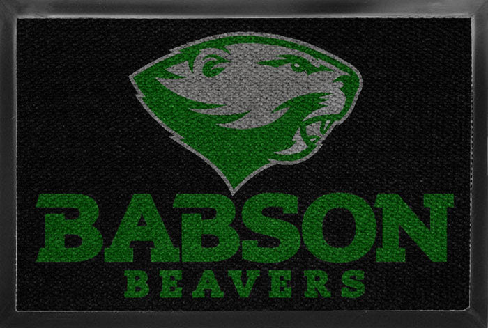 Babson DormMat 2 X 3 Luxury Berber Inlay - The Personalized Doormats Company