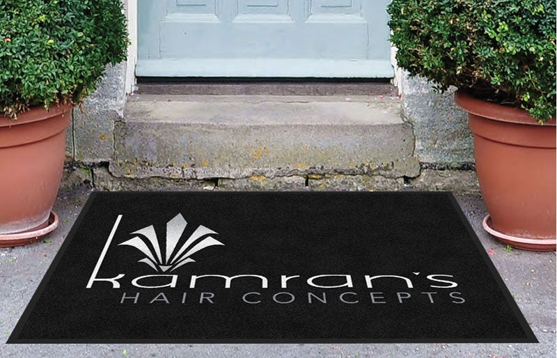 KAMRAN'S HAIR CONCEPTS 3 X 4 Rubber Backed Carpeted HD - The Personalized Doormats Company