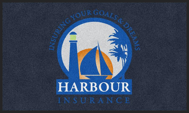 Harbour Mat 3 X 5 Rubber Backed Carpeted HD - The Personalized Doormats Company