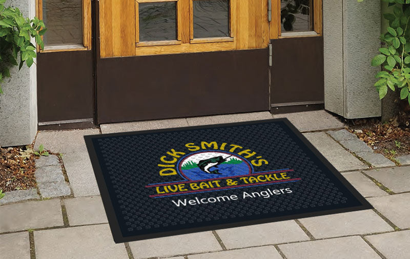 Dick Smith's Live Bait & Tackle 2.5 X 3 Rubber Scraper - The Personalized Doormats Company