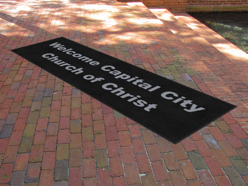 Capital City Church of Christ 3 X 10 Rubber Backed Carpeted HD - The Personalized Doormats Company
