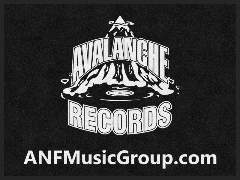 Avalanche Records 3 X 4 Rubber Backed Carpeted HD - The Personalized Doormats Company