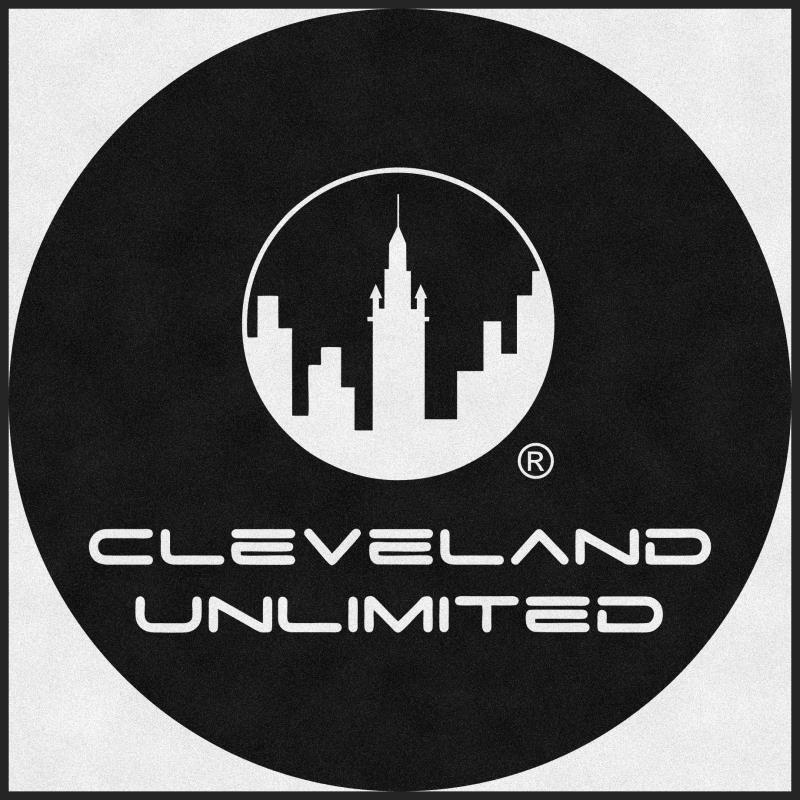 Cleveland Unlimited Records 6 X 6 Rubber Backed Carpeted HD Round - The Personalized Doormats Company