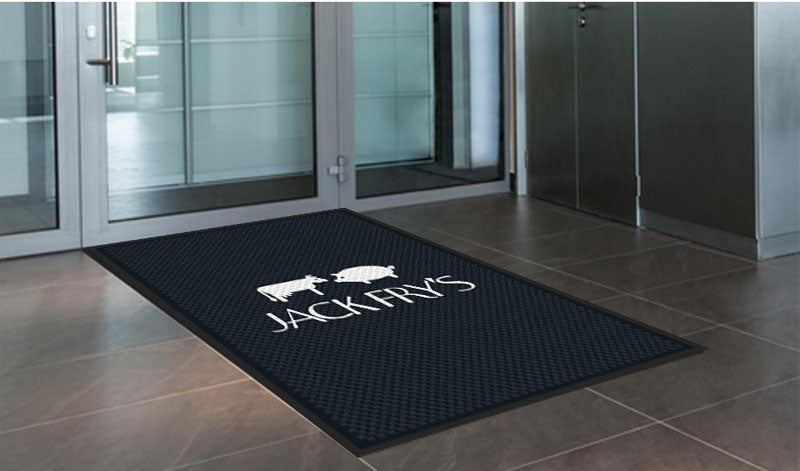 Jack Fry's 4 x 6 Rubber Scraper - The Personalized Doormats Company