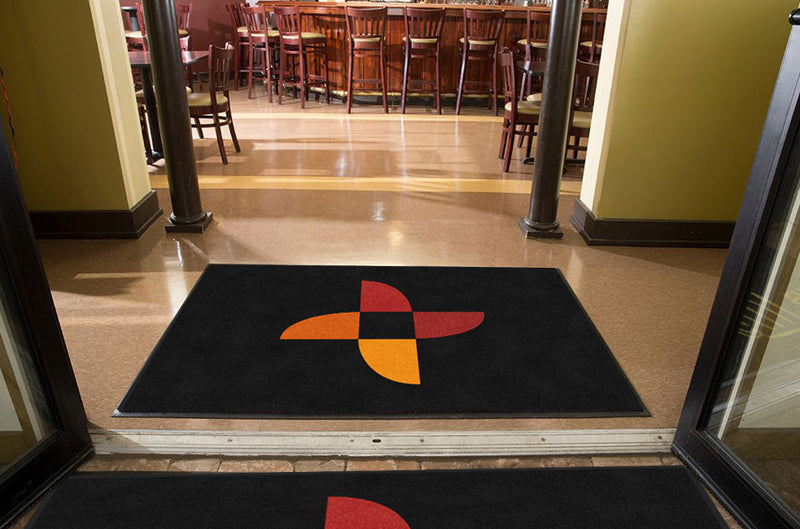 Clineva Logo Mat 4 X 6 Rubber Backed Carpeted HD - The Personalized Doormats Company