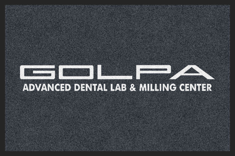 Golpa Dental Lab 2 X 3 Rubber Backed Carpeted HD - The Personalized Doormats Company