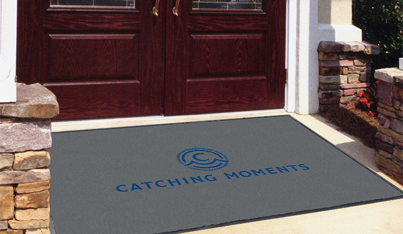 Catching Moments 4 x 6 Flocked Olefin 2 Color - The Personalized Doormats Company