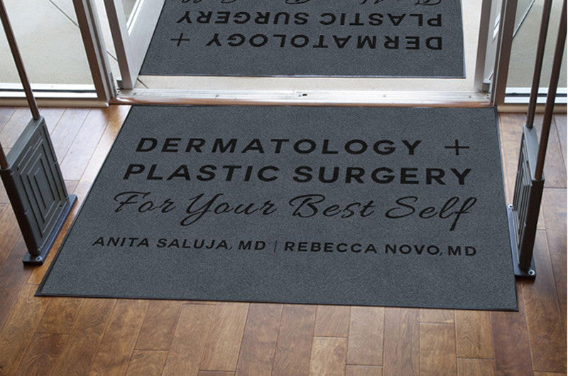 Dermatology + Plastic Surgery 4 X 6 Rubber Backed Carpeted HD - The Personalized Doormats Company