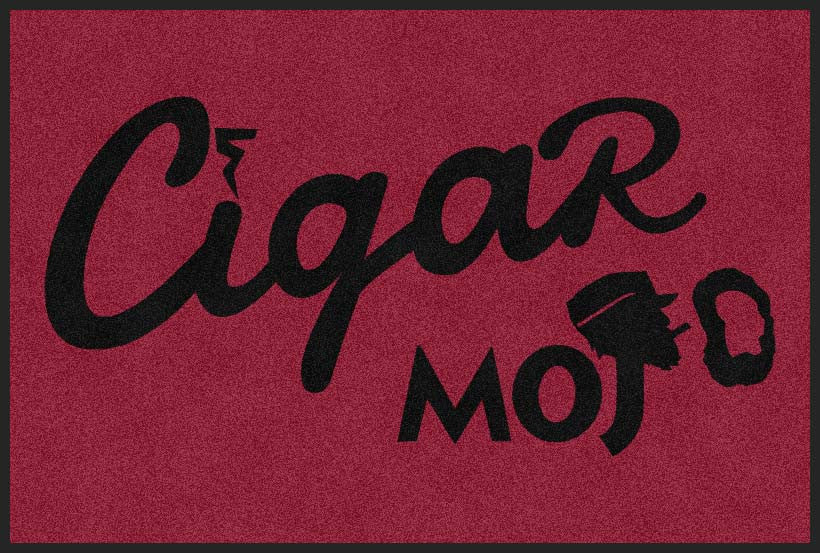 Cigar Mojo 4 X 6 Rubber Backed Carpeted HD - The Personalized Doormats Company