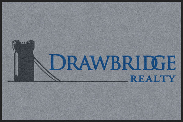 Drawbridge Realty 4 X 6 Rubber Backed Carpeted HD - The Personalized Doormats Company