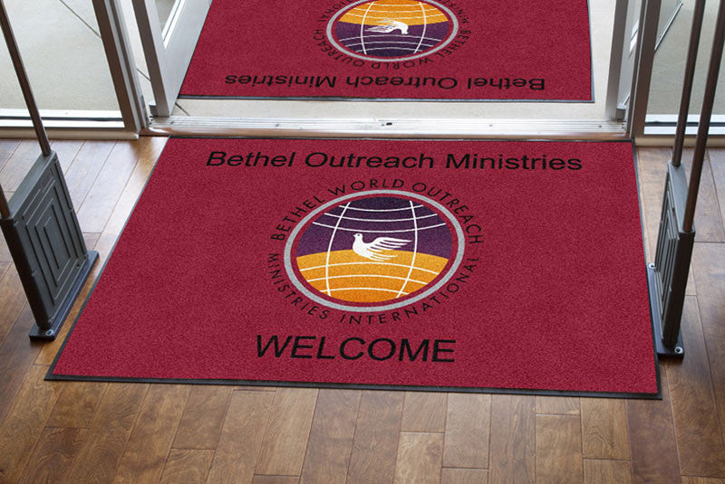 Bethel World Outreach Ministries, Inc. 4 X 6 Rubber Backed Carpeted HD - The Personalized Doormats Company