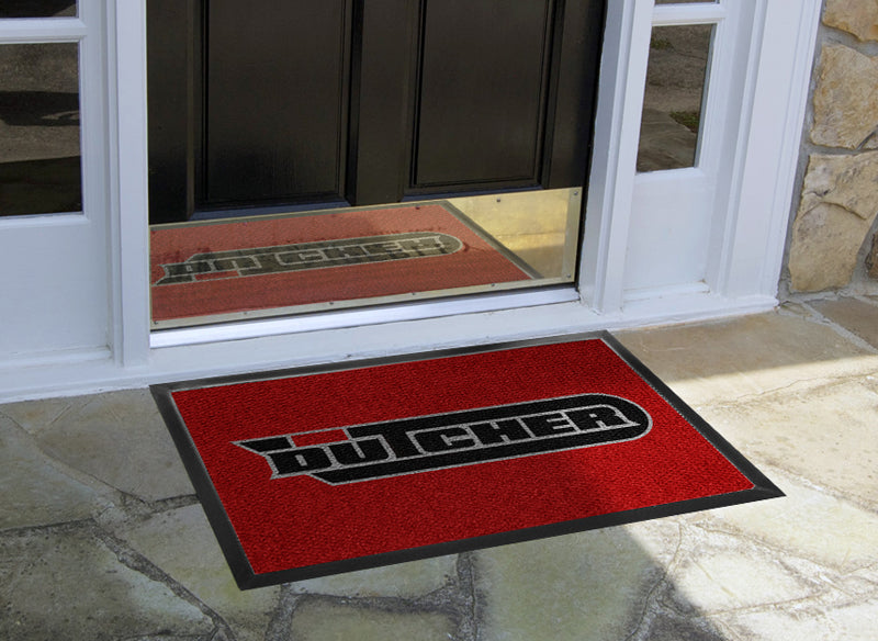Dutcher Martial Arts 2x3 mat 2 x 3 Luxury Berber Inlay - The Personalized Doormats Company