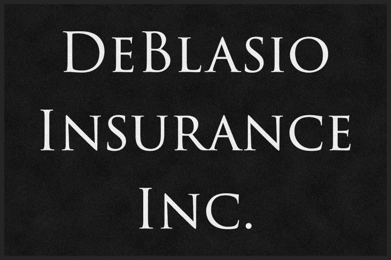 DeBlasio Insurance Inc 4 X 6 Rubber Backed Carpeted HD - The Personalized Doormats Company