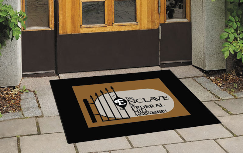 Enclave Rug 2.5 X 3 Rubber Scraper - The Personalized Doormats Company