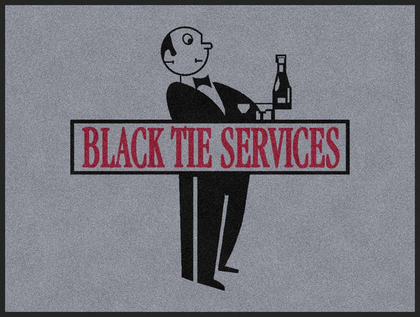 Blacktie Services 3 x 4 Rubber Backed Carpeted HD - The Personalized Doormats Company
