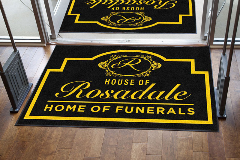 House of Rosadale 4 X 6 Rubber Backed Carpeted HD - The Personalized Doormats Company