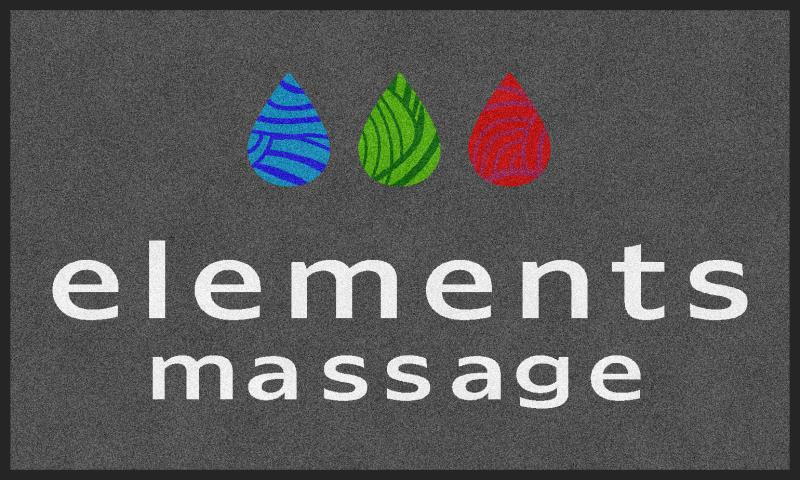 Elements Massage Maple Valley 3 x 5 Rubber Backed Carpeted - The Personalized Doormats Company