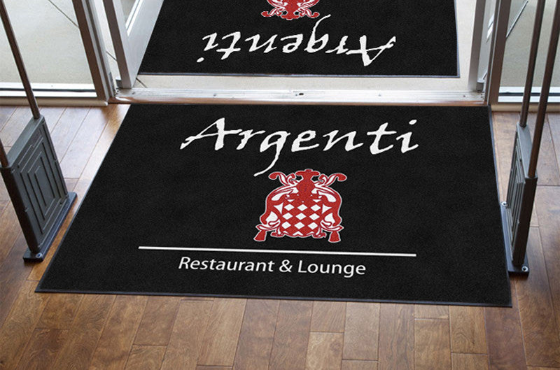 Argenti restaurant and lounge 4 X 6 Rubber Backed Carpeted HD - The Personalized Doormats Company
